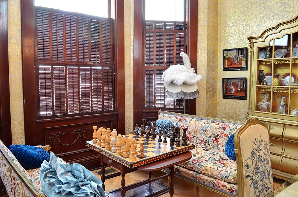 Chess playing room. Opens in a photo gallery pop out.