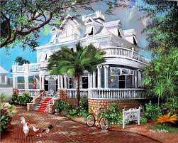 Painting of the Curry Mansion. Opens in a photo gallery pop out.