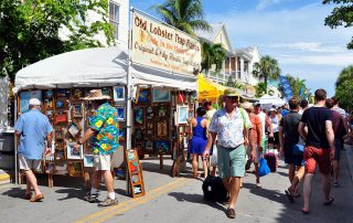 People walking during the lobster festival in Key West
