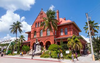 Red Custom House in Key West