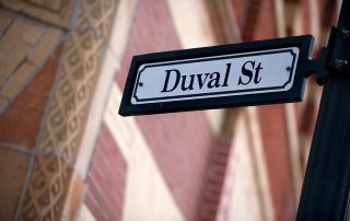 A Duval Street sign post